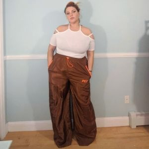 Plt wide leg brown pants plus size 18